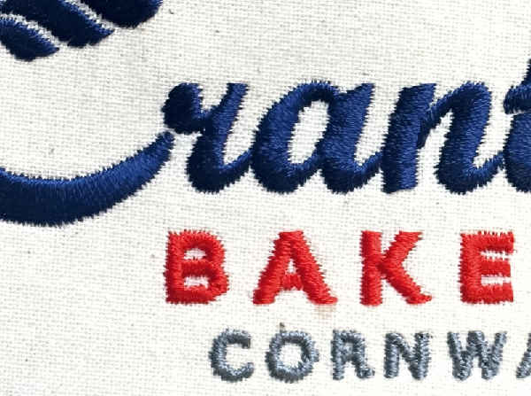 Crantock Bakery Embroidery